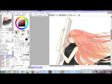 「speedpaint」 Megurine Luka - Leia [with Mouse] video