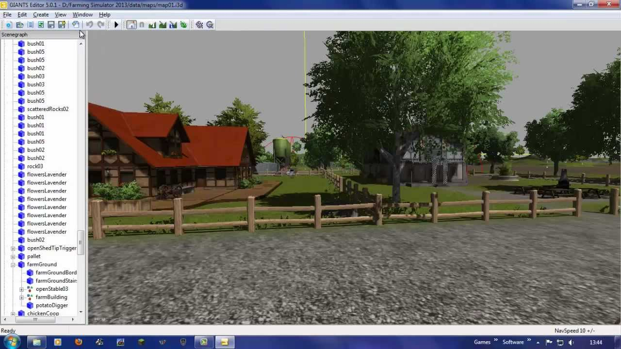 How to use Giants editor (FS2013) commentary. - YouTube