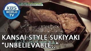 Shinyoung finally gets to taste kansai-style sukiyaki. YUM!! [Battle Trip/2018.06.24]