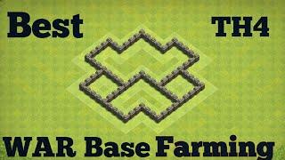 Best th4 Base farming   Clashofclans (coc)war base farming
