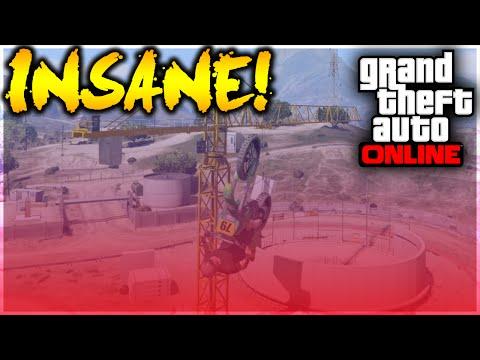 GTA 5 Stunts - INSANE TECHNICAL RUFFIAN CRANE STUNT! (GTA 5 Stunt Challenge)