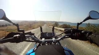 XT1200Z and road of Fethiye