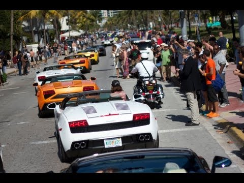 Lamborghini Owners Event in Miami - Aventador Roadster Public Launch