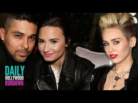 Demi Lovato Defends Bf Wilmer! Miley Cyrus New Beatles Song Sneak Peak! (dhr) video