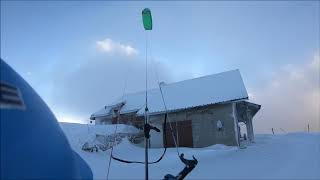 Lights and fog Snowkiting French Alps#2018