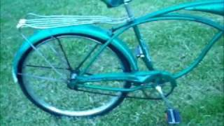 1960's Green Schwinn Streamliner Bicycle