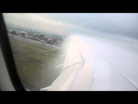 Philippine airline Airbus A340 taking off at manila