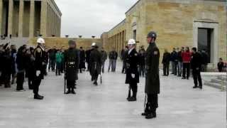Change of Guards at Anıtkabir. Mustafa Kemal Atatürk Mausoleum. Feb. 17. 2013