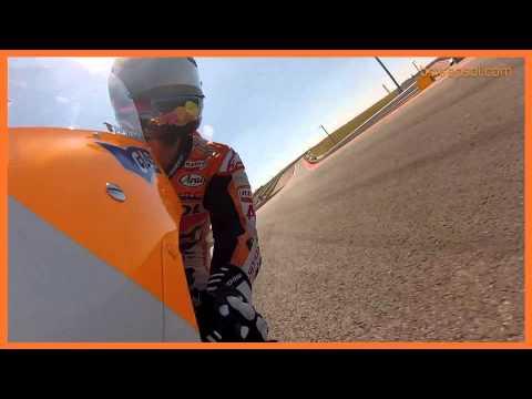 On board en la moto de Pedrosa y Marc Márquez al Circuito de las Américas 2013