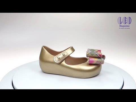 Mini Melissa Vivienne Westwood Anglomania + Ultragirl V – 31403 – Dourado/Rosa