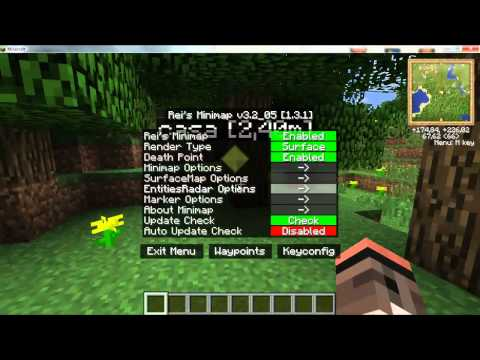 Minecraft 1.6.4 - Como instalar Rei's Minimap MOD - Español