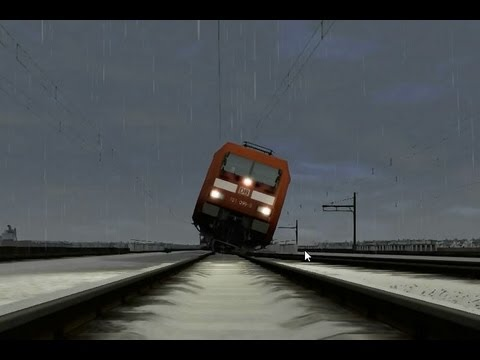 Train Simulator 2013 epic action - driving on 2 (4) wheels