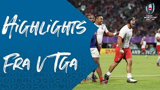 HIGHLIGHTS: France v Tonga - Rugby World Cup 2019