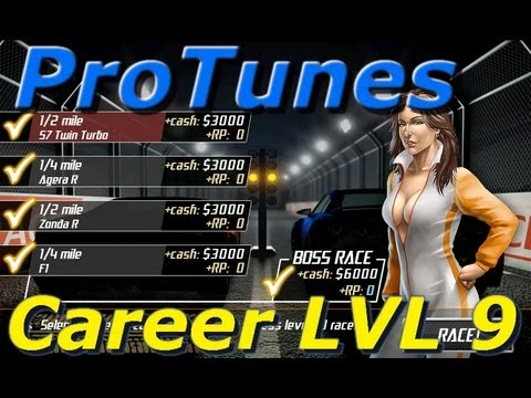 Drag Racing v1.6 Career LVL 9 Aero tune