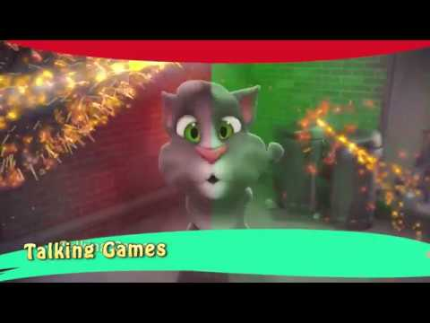 Watching video Learn Colors with My Talking Tom Colours for Kids Animation Education Cartoon CP4G firework
