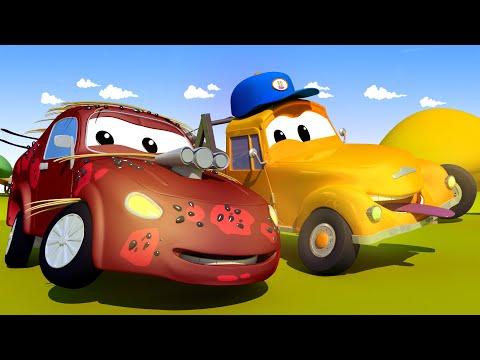 Автомойка Эвакуатора Тома - Гонщик Джерри и арбузы - Автомобильный Город 💧 детский мультфильм