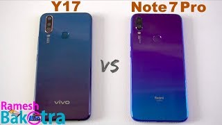 Vivo Y17 vs Redmi Note 7 Pro SpeedTest and Camera Comparison
