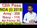 Apply Online 12th Pass Air Force , Army , Navy  #NDA Exam 2018 All India Vacancy Full Detail