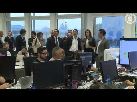 MATTEO RENZI | Prime Minister of Italy visits YOOX Group Headquarters in Bologna