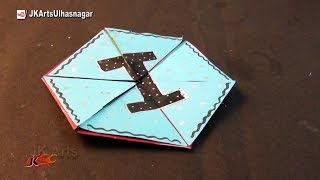 Hexagon Endless Card for Scrapbook | How To Make An Endless Love Valentine Card | JK Arts 1019