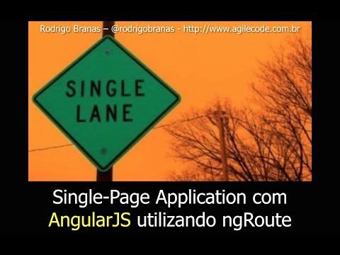 AngularJS - #14 - Single-Page Application com ngRoute - Rodrigo Branas