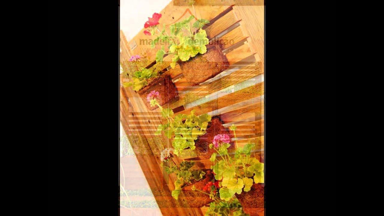 grades madeira jardim:Jardim Vertical em Madeira de Demolição – YouTube