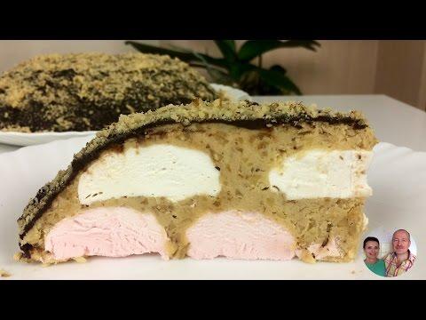 """Торт без Выпечки за 30  минут! Торт """"Зефир в Шоколаде""""!"""