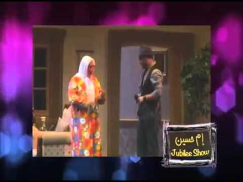 Funny Arab woman arguing with white man