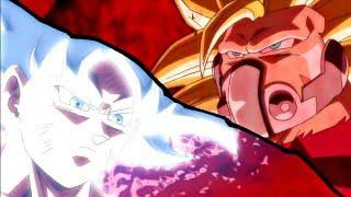 Goku Ultra Istinto Vs kamba (SUPER DBH EP6)