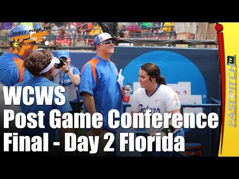 2015 WCWS Final Game 2 | Florida | Post Game Press Conference