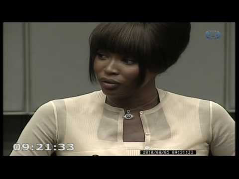 Naomi Campbell tells war crimes trial of diamonds Video