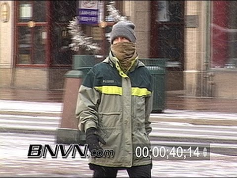 News B-Roll footage of people in Minneapolis, MN in very cold conditions