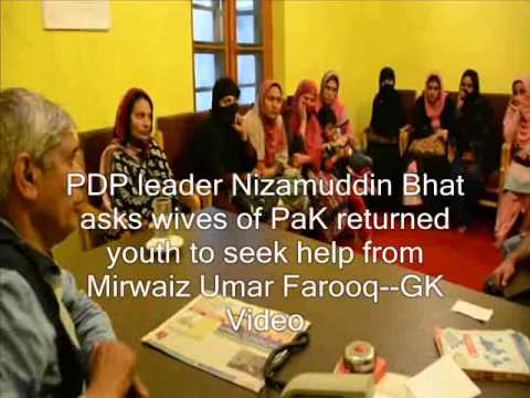PDP leader asks wives of PaK returned youth to seek help from Mirwaiz Umar Farooq