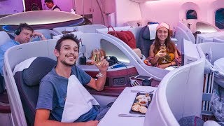 FANTASTIC Business Class VIP Experience! - Qatar Airways Boeing 787-8 Dreamliner Review