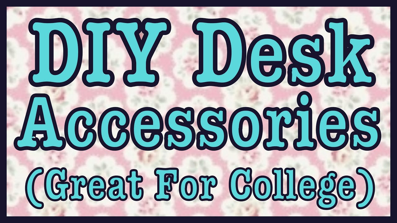 Diy desk room decor great for college roomspiration for Room decor youtube channel