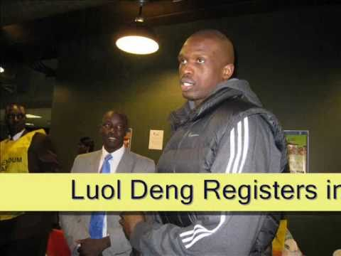 Luol DENG Registers for Southern Sudan January 2011 Referendum in USA