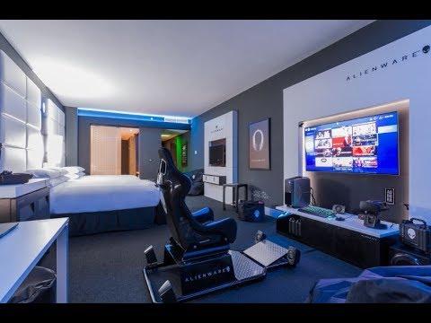 ALIENWARE GAMING: Alienware Hotel Room -TOUR (HILTON PANAMA)-QUICK LOOK