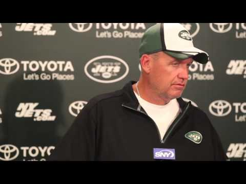VIDEO: Jets Rex Ryan jokes with reporters, says he'd rather play Delbarton