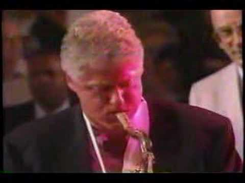 Bill Clinton plays the blues Video