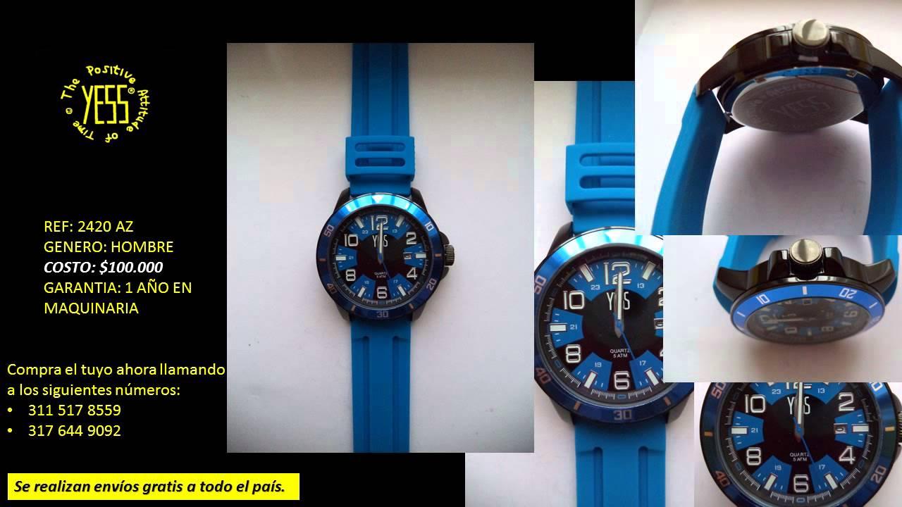 Catalogo relojes yess para hombres colombia youtube - Reloj adhesivo de pared ...
