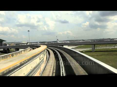 Taking the Airport Express from Terminal 1 to Terminal 2 of Kuala Lumpur Airport