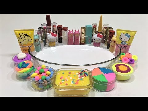 MIXING MAKEUP AND CLAY INTO SLIME! SLIMESMOOTHIE! SATISFYING SLIME VIDEO !