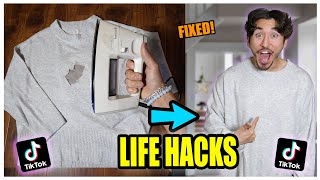 We TESTED Viral TikTok Life Hacks.... (MIND BOGGLING) *PART 10*