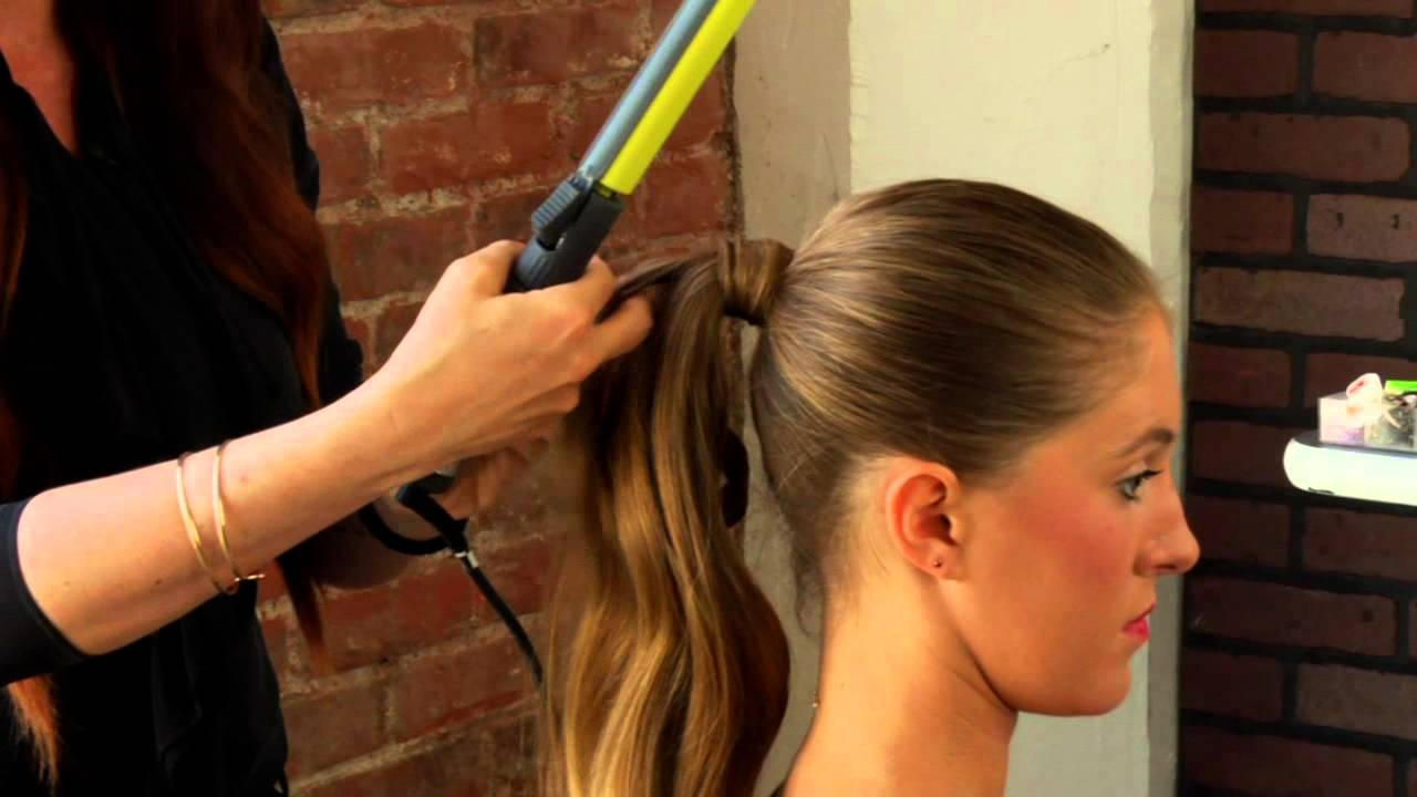 How To Do A Formal Ponytail With A Curling Iron Mane