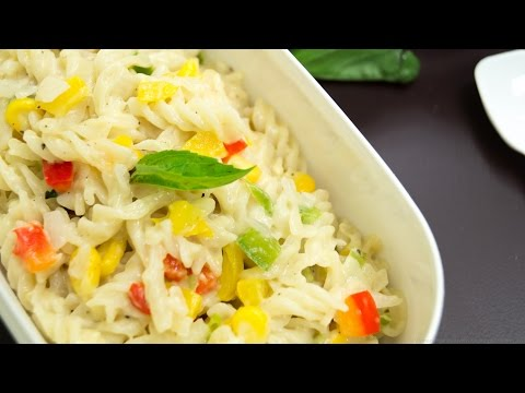 Pasta in White Sauce / Quick & Easy Indian Style   Kids Lunch box Special