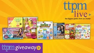 Join #TTPMLIVE for a chance to win a Activity Toy!
