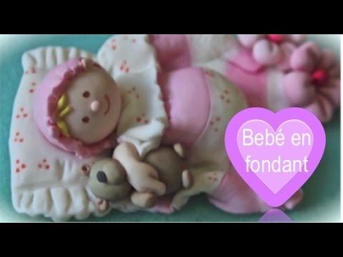 Figuras para tartas: bebé en fondant