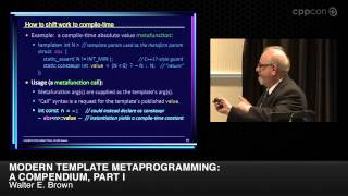 "CppCon 2014: Walter E. Brown ""Modern Template Metaprogramming: A Compendium, Part I"""
