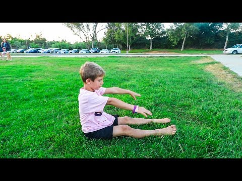 SITTING BACKFLIP BY 7 YEAR OLD !