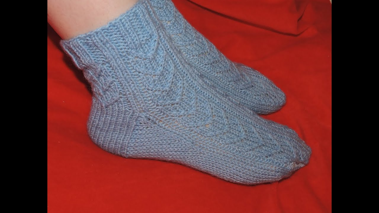 Вязание носков на 9-10 лет видеоурок